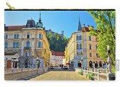 City Of Ljubljana View From Tromostovje Bridge Carry-all Pouch