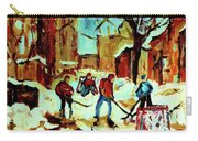 City Of Montreal Hockey Our National Pastime Carry-all Pouch