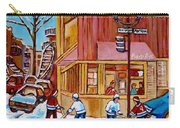 City Of Montreal St. Urbain And Mont Royal Beautys With Hockey Carry-all Pouch