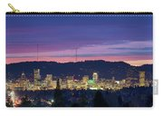 City Of Portland Oregon Skyline At Twilight Carry-all Pouch
