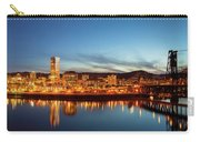 City Of Portland Skyline Blue Hour Panorama Carry-all Pouch