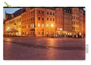 City Of Wroclaw Old Town Market Square At Night Carry-all Pouch