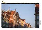 City Of Wroclaw Old Town Skyline At Sunset Carry-all Pouch