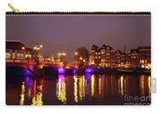 City Scenic From Amsterdam With The Blue Bridge In The Netherlands Carry-all Pouch