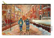 Cityscape In Winter Carry-all Pouch