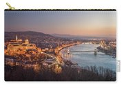 Cityscape Of Budapest, Hungary At Night And Day Carry-all Pouch