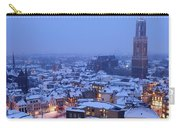 Cityscape Of Utrecht With The Dom Tower  In The Snow 13 Carry-all Pouch