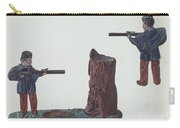 Civil War Soldier & Tree Trunk Bank Carry-all Pouch