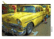 Classic 56 Chevy Car Yellow  Carry-all Pouch