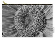 Classic Black And White Sunflower Carry-all Pouch