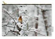 Classic Cardinal In Snow Carry-all Pouch