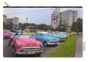 Classic Cars In Revolutionary Square Cuba Carry-all Pouch
