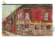 Classic Chinese Restaurant Montreal Memories Silver Dragon Canadian Paintings Carole Spandau         Carry-all Pouch