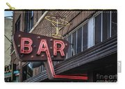 Classic Neon Sign For A Bar Livingston Montana Carry-all Pouch