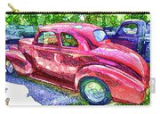 Classic Red Vintage Car Carry-all Pouch