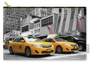 Classic Street View Of Yellow Cabs In New York City Carry-all Pouch