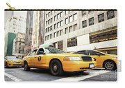 Classic Street View With Yellow Cabs In New York City Carry-all Pouch