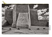 Classic View Of Ranchos Church In B-w Carry-all Pouch