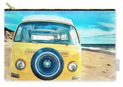 Classic Vw Camper On The Beach Carry-all Pouch