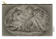 Classical Greek Woman Fresco Carry-all Pouch by Bill Cannon