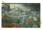 Classical Landscape With Ships Running Before A Storm Towards A Classical Harbour Probably Corinth Carry-all Pouch