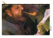 Claude Monet Reading 1872 Carry-all Pouch