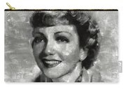 Claudette Colbert Vintage Hollywood Actress Carry-all Pouch