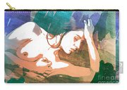 Claudia Nude Fine Art Painting Print In Sensual Sexy Color 4893. Carry-all Pouch