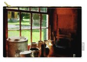Clay Jars On Windowsill Carry-all Pouch