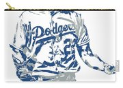 Clayton Kershaw Los Angeles Dodgers Pixel Art 10 Carry-all Pouch