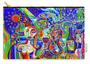 City At Night Music And Wine Abstract Carry-all Pouch