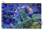 Clean Oceans Sea Turtle Art Carry-all Pouch