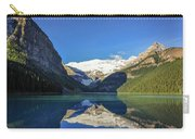 Clear Reflections In The Water At Lake Louise, Canada. Carry-all Pouch
