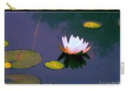 Clear Reflections Lotus Carry-all Pouch