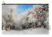 Clearing Skies Christmas Card Carry-all Pouch