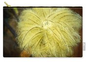 Clematis Flower Head In Fall Carry-all Pouch