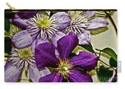 Purple Clematis Flower Vines Carry-all Pouch