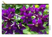 Clematis Flowers Carry-all Pouch by Corey Ford