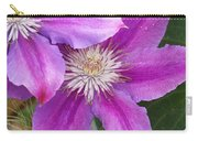 Clematis Flowers Carry-all Pouch
