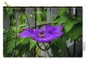 Clematis In Purple Carry-all Pouch