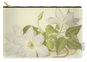 Clematis Jackmanni Alba Carry-all Pouch