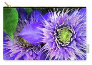 Clematis Multi Blue Carry-all Pouch