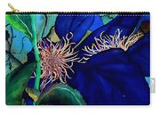 Clematis Regal In Purple And Blue Sold Carry-all Pouch