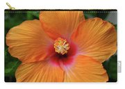 Clementine Hibiscus Carry-all Pouch