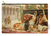 Cleopatra Testing Poisons On Those Condemned To Death Carry-all Pouch by Alexandre Cabanel