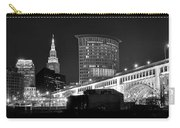 Cleveland Black And White Panoramic Carry-all Pouch