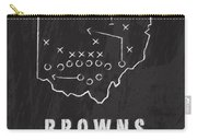 Cleveland Browns Art - Nfl Football Wall Print Carry-all Pouch by Damon Gray