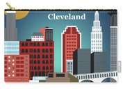 Cleveland Ohio Horizontal Skyline Carry-all Pouch