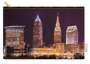 Cleveland Skyline Night Color - Downtown Buildings Carry-all Pouch