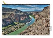 Cliff View Of Big Bend Texas National Park And Rio Grande  Carry-all Pouch